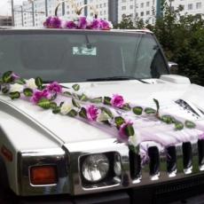 украшение хаммера на свадьбу